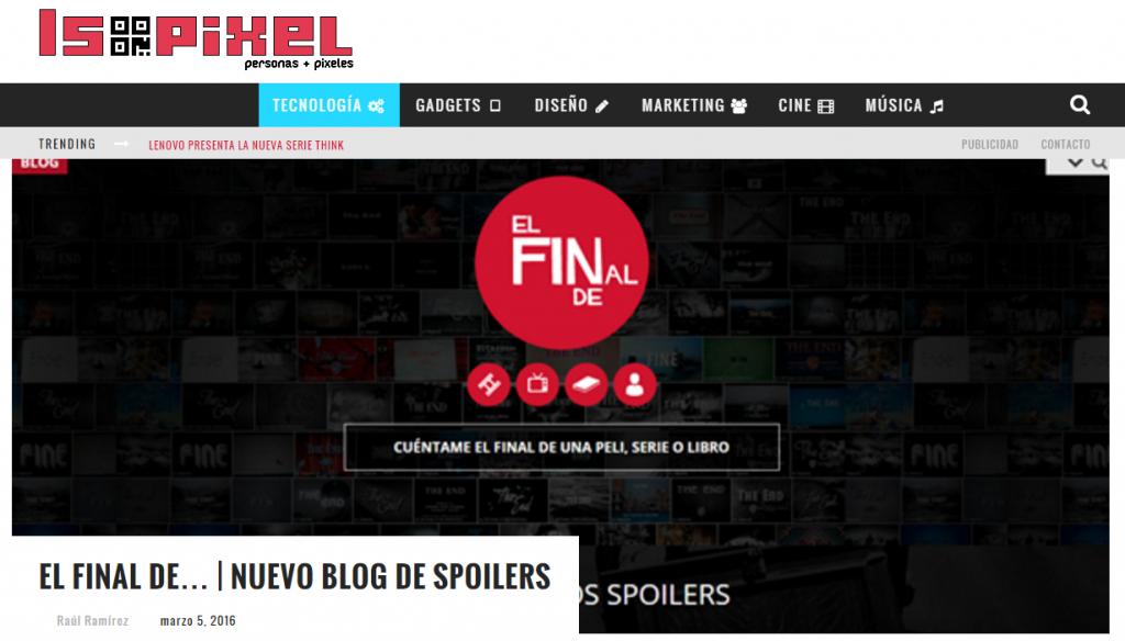 El Final de... | Nuevo blog de SPOILERS en Isopixel