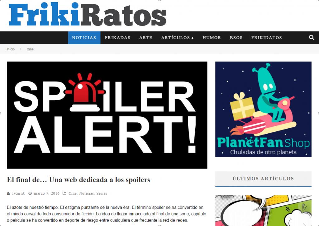 El final de... Una web dedicada a los spoilers - FrikiRatos