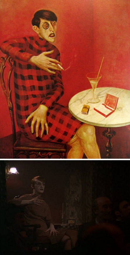 Bildnis der Journalistin Sylvia von Harden de Otto Dix en Cabaret