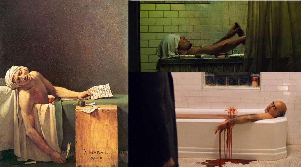 La Muerte de Marat inspiró estas escenas de El Padrino II y el Club de la lucha
